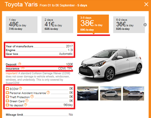 Rent a car in Kotor from 22 national companies